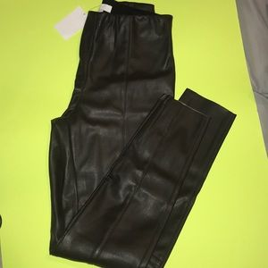 New brown H&M polyurethane skinny pants, size 4